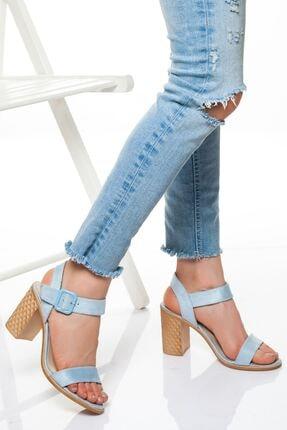 derithy -klasik Topuklu Ayakkabı-mavi Süet 0