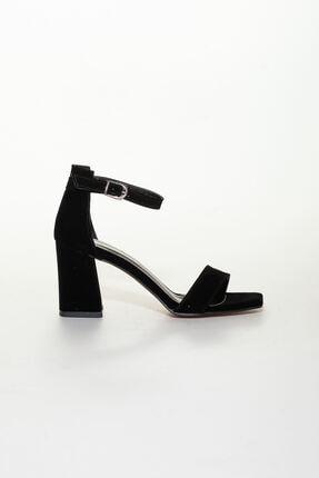 derithy -klasik Topuklu Ayakkabı-siyah Süet 1