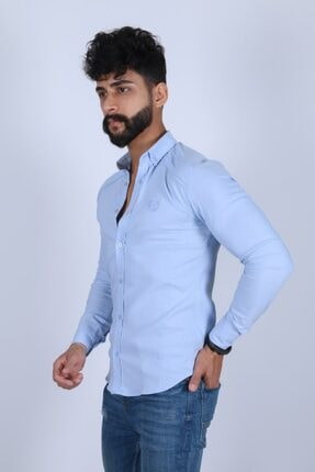 JİYAN Erkek Mavi Gömlek 2