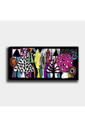 Shop365 Renkli Ağaçlar Kanvas Tablo 135 X 90 cm 0