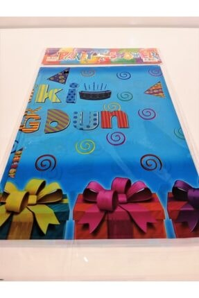 kına dükkanı Masa Örtüsü Doğum Günü Mavi 120 X 180 cm Mavi 1