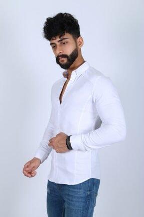 JİYAN Erkek Beyaz Gömlek 1