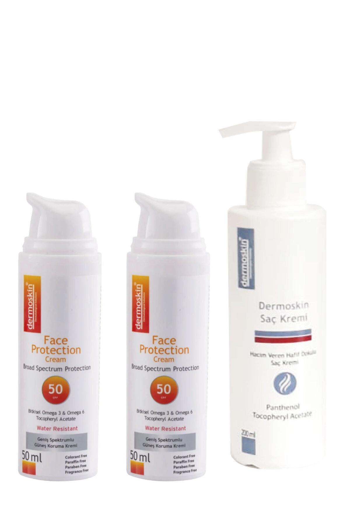 Face Protection Spf 50 -2'li Avantaj Paket + Saç Kremi Hediye