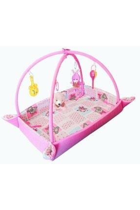 bibebe Kız Bebek Pembe Bariyerli Oyun Minderi Halısı 0