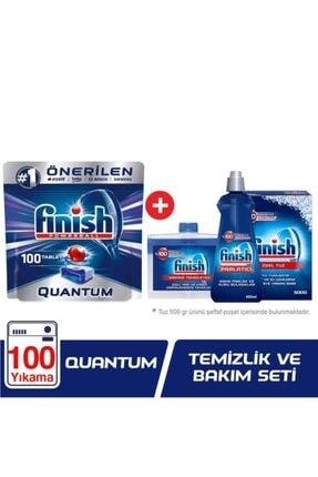 Finish Quantum Bulaşık Makinesi Deterjanı 100 Tablet Ve Temizlik Bakım Seti 1