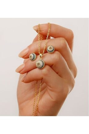 Gümüşistan 925 Ayar Gümüş Göz Nazarlı Takı Seti 1