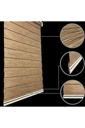 Lucra Concept Brillant Bambu Zebra Perde Etek Dilimli & Boncuklu Kahve Mz494eb 2