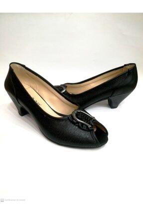 Floor Kadın Siyah Topuklu Ayakkabı 2