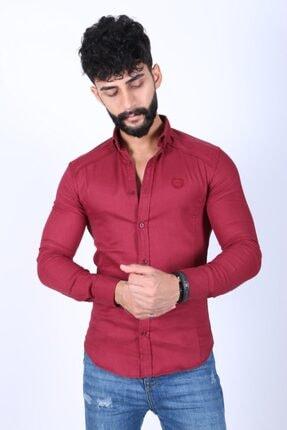 JİYAN Erkek Bordo Gömlek 0