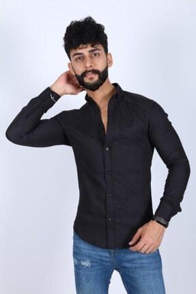 JİYAN Erkek Siyah Gömlek 0