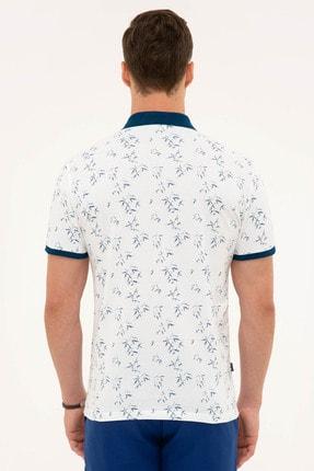 Pierre Cardin Erkek Lacivert Detaylı Slim Fit Polo Yaka T-Shirt 2