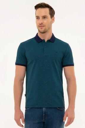 Pierre Cardin Erkek Lacivert Slim Fit Polo Yaka T-Shirt 0