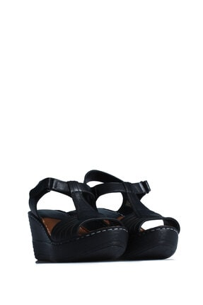 ELLANOR Kadın Siyah Günlük Sandalet 0