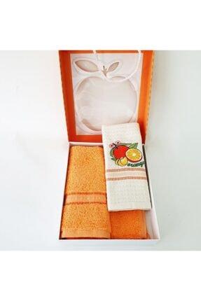 Sanalbolluk Portakal Resimli Mutfak Havlusu İkili Paket 2