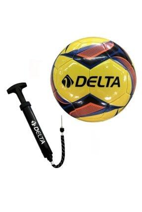 Delta Lena 5 No Futbol Topu + Çok Fonksiyonlu Top Şişirme Pompası 0