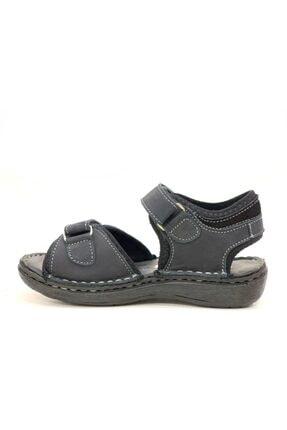 Toddler Erkek Çocuk Siyah Hakiki Deri Sandalet 2