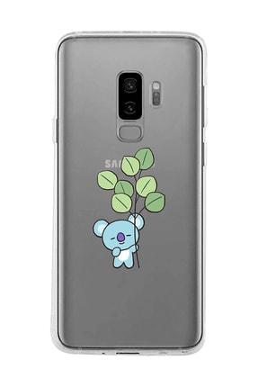 Mupity Yapraklı Koala Tasarımlı Samsung S9 Plus Şeffaf Telefon Kılıfı 0