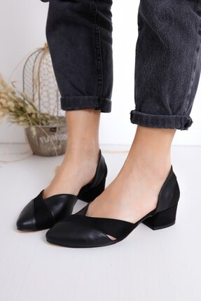 Hayalimdeki Ayakkabı Leslie Kadın Siyah Süet Topuklu Ayakkabı 0