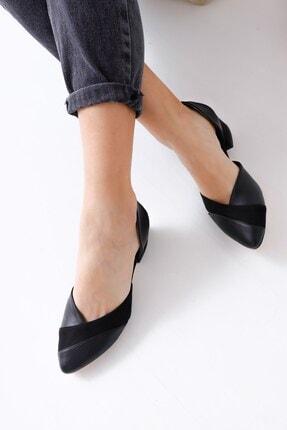 Hayalimdeki Ayakkabı Leslie Kadın Siyah Süet Topuklu Ayakkabı 3