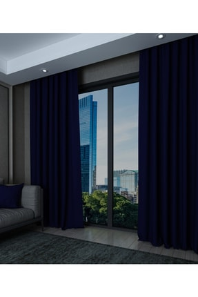 Elegant Home Tekstil Lacivert Blackout Perde Saten Karartma Güneşlik 1.sınıf 0