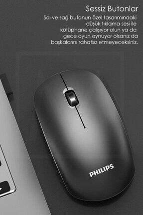 Philips Siyah Kablosuz Optik Mouse 4
