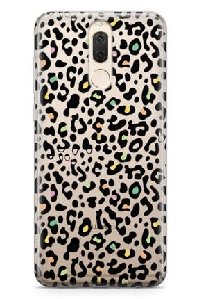 Lopard Huawei Mate 10 Lite Kılıf Colorful Leopar Arka Kapak Koruma Desenli Full Koruyucu 0