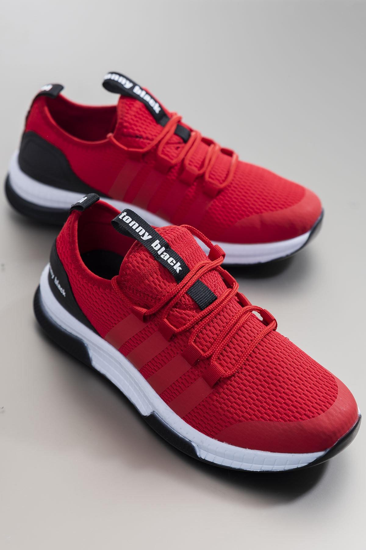 Tonny Black Unısex Kırmızı Spor Ayakkabı Tbqnt 0