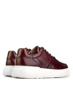 Cabani Erkek Kahverengi Sanetta Deri Ayakkabı 4