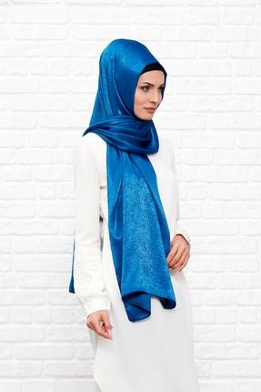 Silk Home Kadın Mavi  İpeği Şal 1