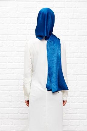 Silk Home Kadın Mavi  İpeği Şal 2