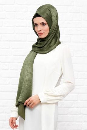 Silk Home Kadın Haki Bambu İpeği Şal 0