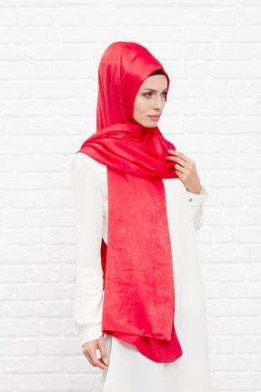 Silk Home Kadın Kırmızı Bambu İpeği Şal 1