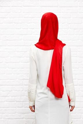 Silk Home Kadın Kırmızı Bambu İpeği Şal 2