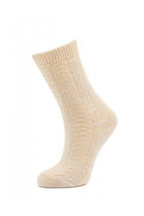 Style Kadın Vanilya Bambu Soket Çorabı Sb7842 0