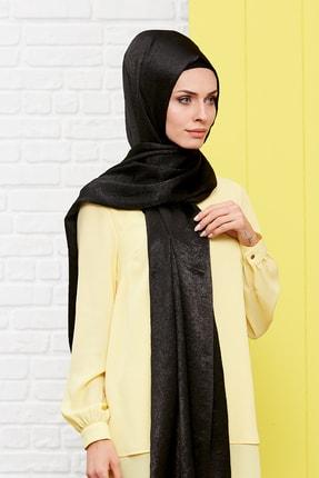 Silk Home Kadın Siyah Bambu İpeği Şal 1