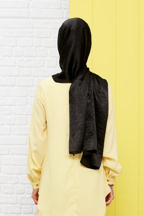 Silk Home Kadın Siyah Bambu İpeği Şal 2