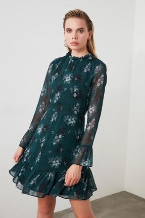 TRENDYOLMİLLA Yeşil Çiçek Desenli Elbise TCLAW19LJ0076 0
