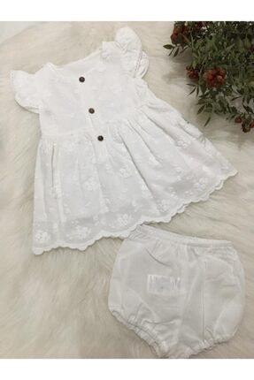 Bebetto Kız Bebek Dokuma 2'li Takım Elbise 0