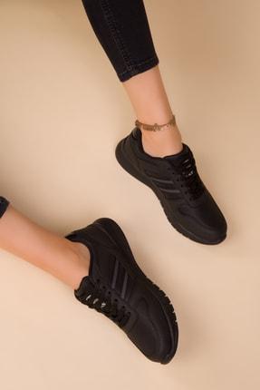 Soho Exclusive Siyah-Siyah Kadın Sneaker 15225 1