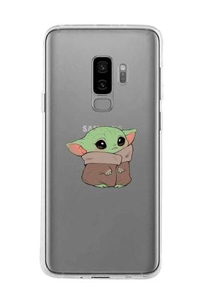 Mupity Bebek Yoda Tasarımlı Samsung S9 Plus Şeffaf Telefon Kılıfı 0