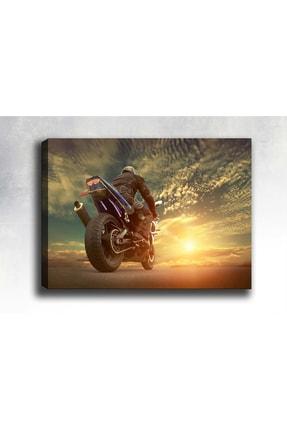 Syronix Günbatımı Ve Motorsiklet Kanvas Tablo 180 X 120 cm Sb-16394 0
