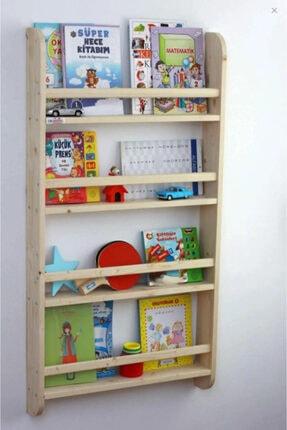 Oyuncak Odası Montessori Çocuk Odası Eğitici Kitaplık Ahşap Duvara Monte 4 Raflı 2