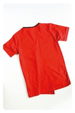 AE Group Erkek Çocuk Kırmızı Confident Baskılı Kot Pantolonlu T-shirt Takım 4 Parça 4