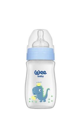 Wee Baby Klasik Plus Geniş Ağızlı Pp Biberon 250 Ml - Mavi Dinozor 0