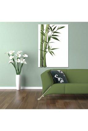 TabloPlus Yeşil Desenli Kanvas Tablo 100x150 cm 1