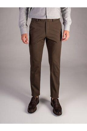 Dufy Kahve Büyük Beden Düz Erkek Pantolon - Battal 0