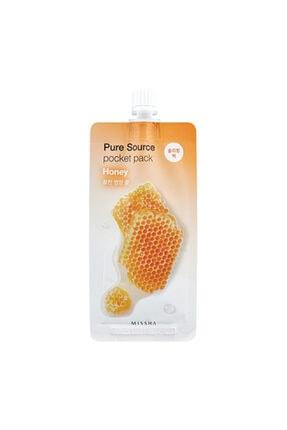 Missha Besleyici ve Nemlendirici Bal Uyku Maskesi 10ml Pure Source Pocket Pack Honey 0