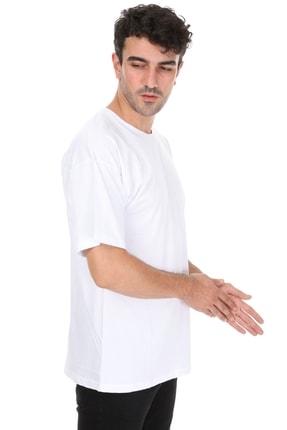 Millionaire Düz Beyaz Oversize Unisex T-shirt 3