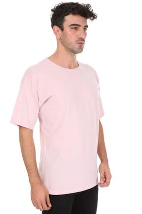Millionaire Düz Pembe Oversize Unisex T-shirt 1