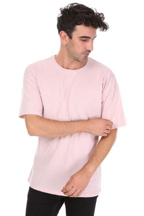 Millionaire Düz Pembe Oversize Unisex T-shirt 2